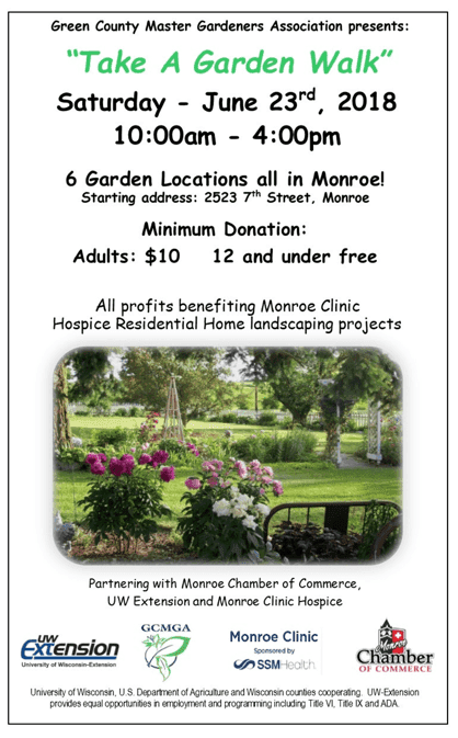 "Green County Master Gardeners Association ""Take A Garden Walk"""